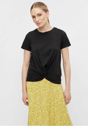 Object Rundhalsshirt »OBJSTEPHANIE«, mit Knoten-Detail kaufen