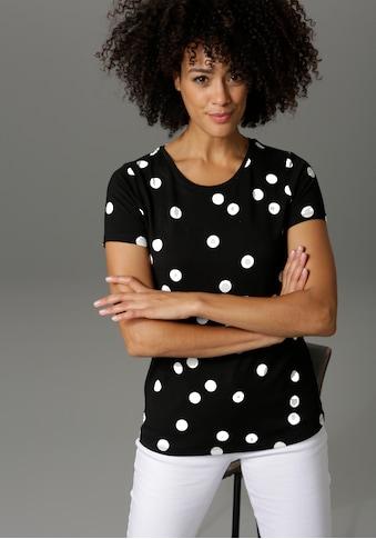 Aniston CASUAL T-Shirt, mit Punkten bedruckt - NEUE KOLLEKTION kaufen