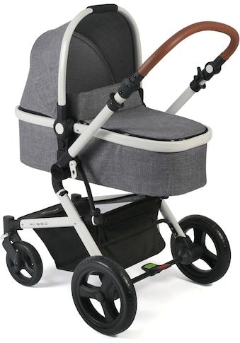 CHIC4BABY Kombi-Kinderwagen »Passo, Melange Grau«, 15 kg kaufen