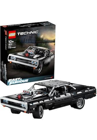 LEGO® Konstruktionsspielsteine »Dom's Dodge Charger (42111), LEGO® Technic«, (1077 St.) kaufen