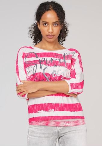 SOCCX Fledermauspullover, im trendy Streifen-Look mit tollem Frontmotiv kaufen