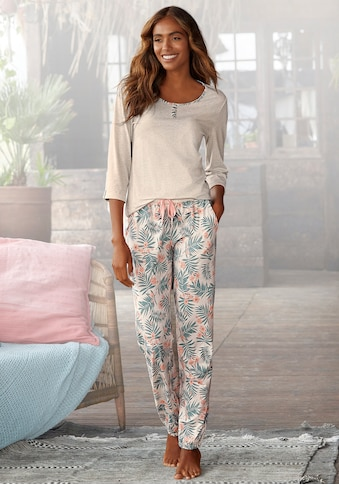 LASCANA Pyjama, mit gemusterter Hose kaufen