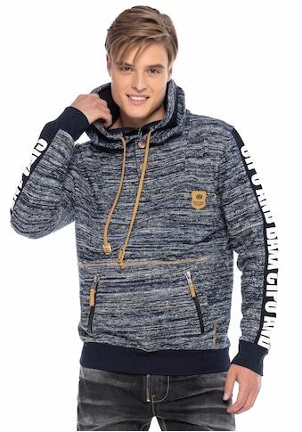 Cipo & Baxx Kapuzensweatshirt, mit aufwendigen Details kaufen
