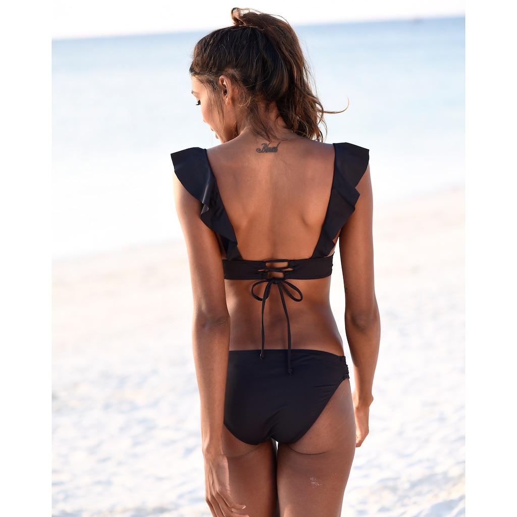 JETTE Triangel-Bikini, mit Volant