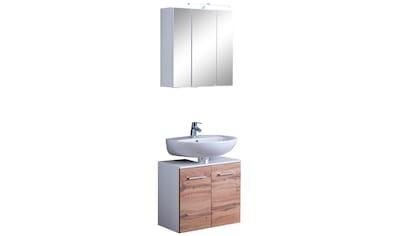 HELD MÖBEL Badmöbel-Set »Avignon«, (2 St.), mit 3D-Spiegelschrank mit LED-Aufsatzleuchte kaufen