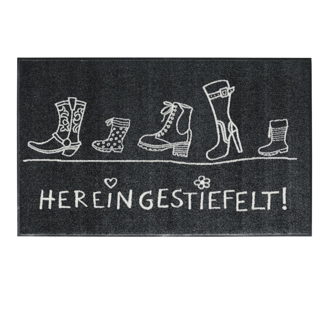 Fußmatte HEREINGESTIEFELT Hereingestiefelt, waschbar