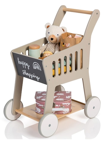 """MUSTERKIND® Spiel - Einkaufswagen """"Rubus, warmgrau/natur"""" kaufen"""