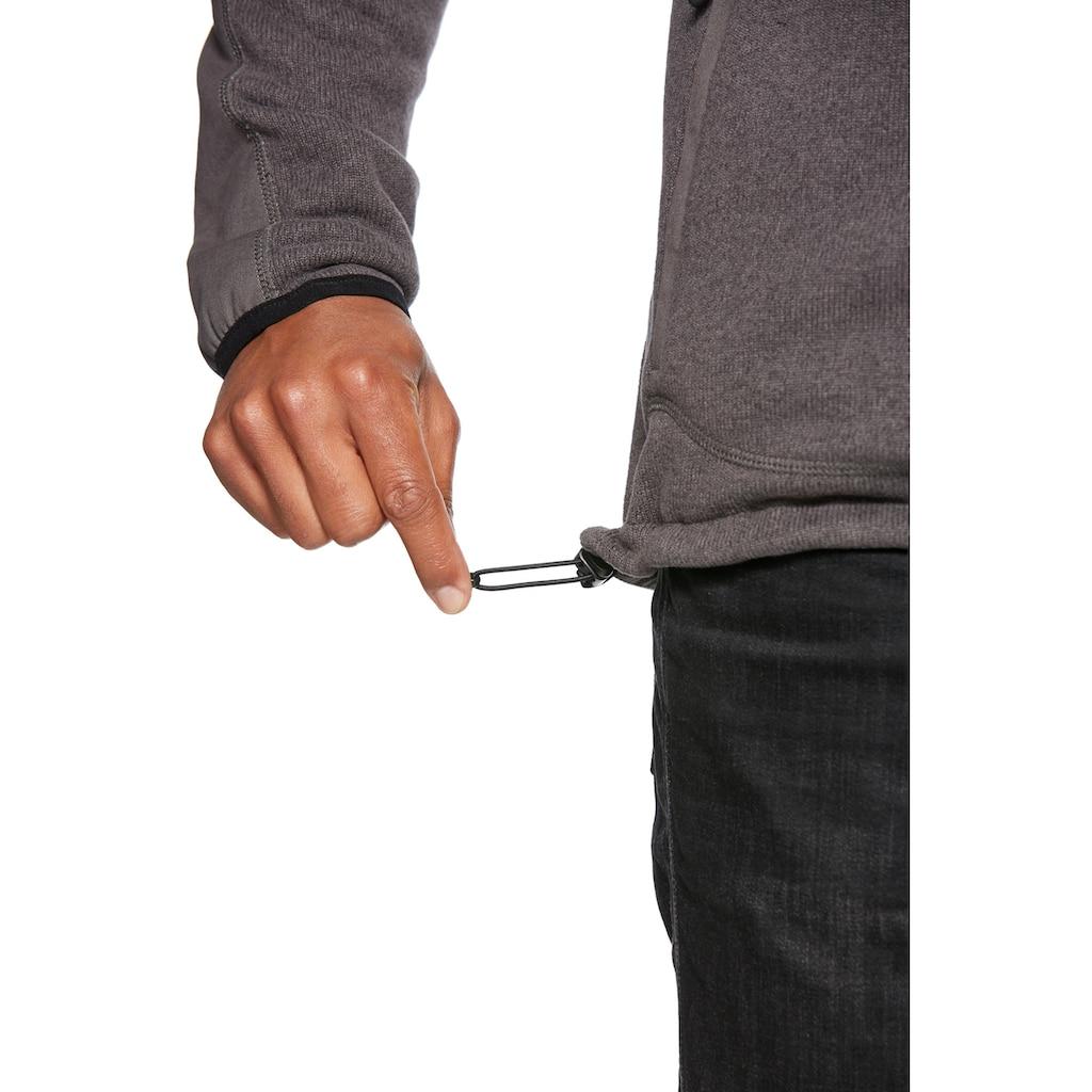 Jeff Green Strickfleecejacke »Nigel«, Cordura-Verstärkung am unteren Armbereich