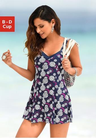 LASCANA Badekleid, mit modischen Kreisen und Shaping-Effekt kaufen