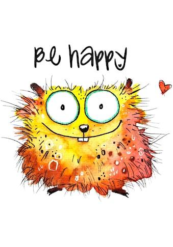 Wall-Art Wandtattoo »Happy Hamster« kaufen