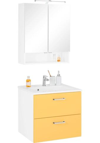 HELD MÖBEL Badmöbel-Set »Ribera«, (2 St.), Spiegelschrank Breite 60 cm, Waschtisch kaufen
