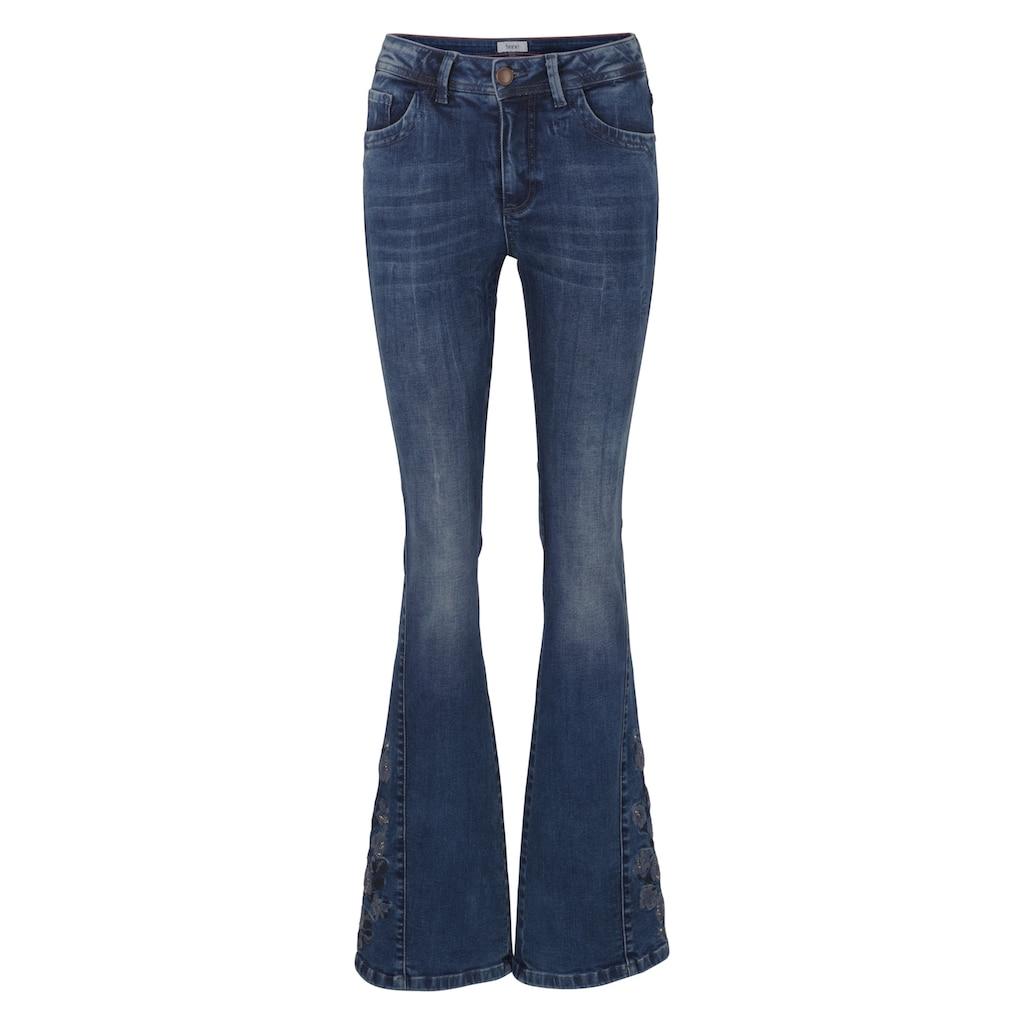 LINEA TESINI by Heine Bootcut-Jeans, mit Stickerei