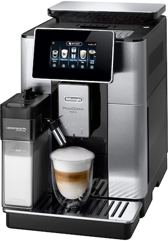 De'Longhi Kaffeevollautomat PrimaDonna Soul ECAM 610.75.MB mit Kaffeekannenfunktion, silber, 2,2l Tank, Scheibenmahlwerk kaufen
