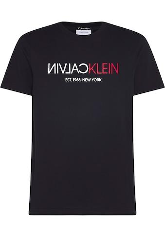 Calvin Klein T - Shirt »TEXT REVERSE FRONT LOGO T - SHIRT« kaufen