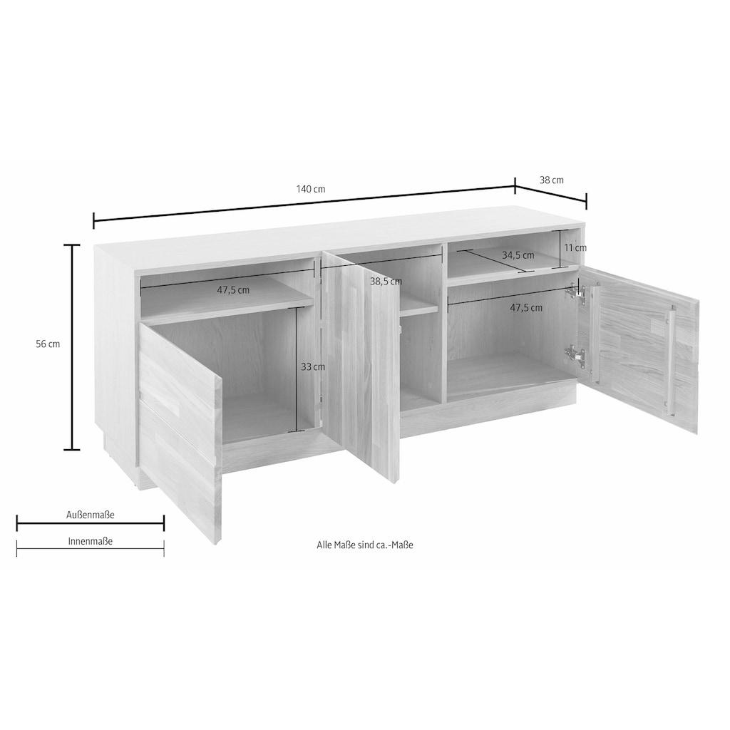 Lowboard, Breite 140 cm