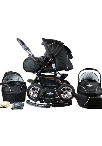 bergsteiger Kombi-Kinderwagen »Milano, black edition, 3in1«, 15 kg, Made in Europe;... kaufen