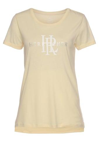 Herrlicher T-Shirt »KENDALL«, mit silberfarbigem Logo-Statement Foile-Print kaufen