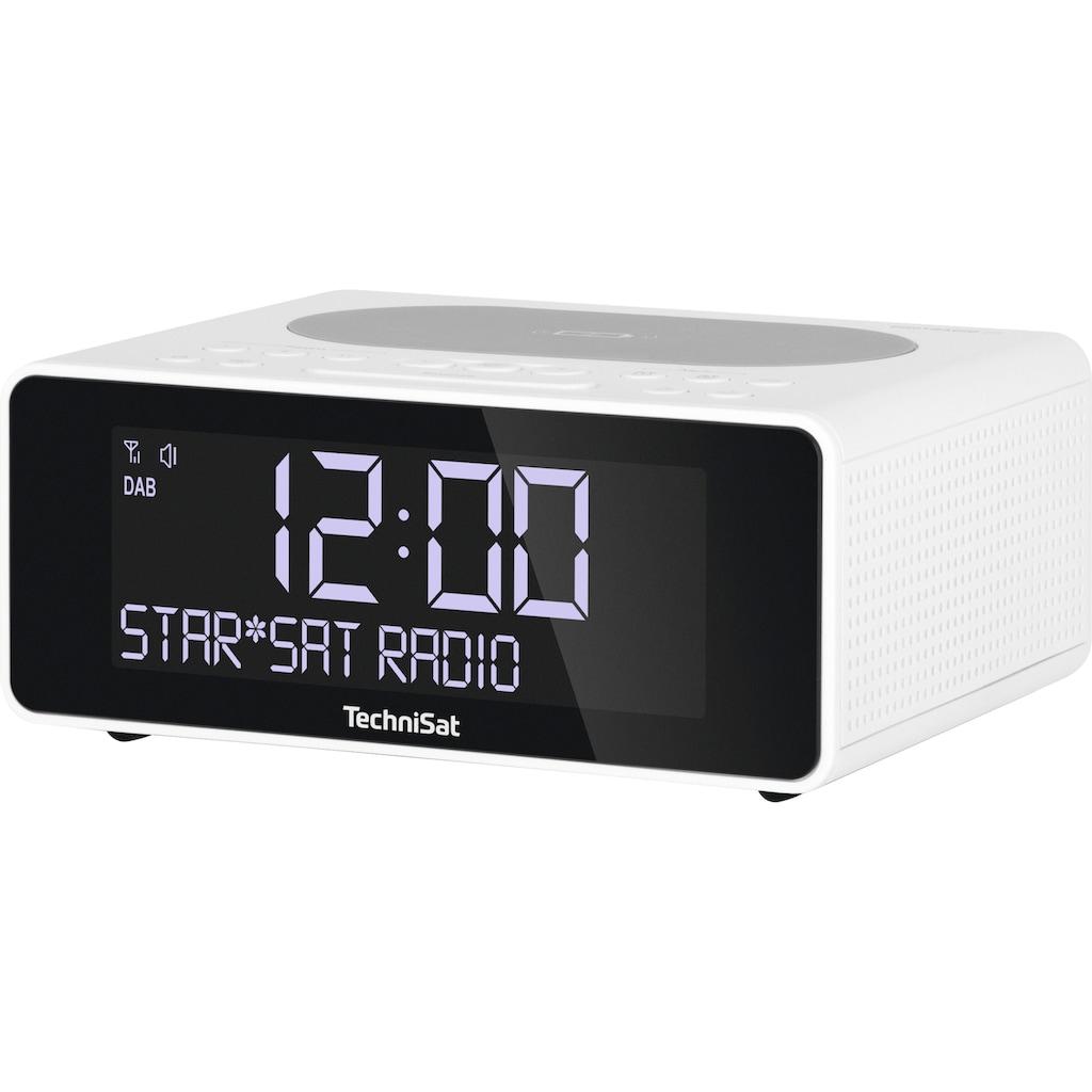 TechniSat Radiowecker »DIGITRADIO 52«, ( Digitalradio (DAB+)-UKW mit RDS 2 W), Smartphone wireless charging Funktion-2 Weckzeiten