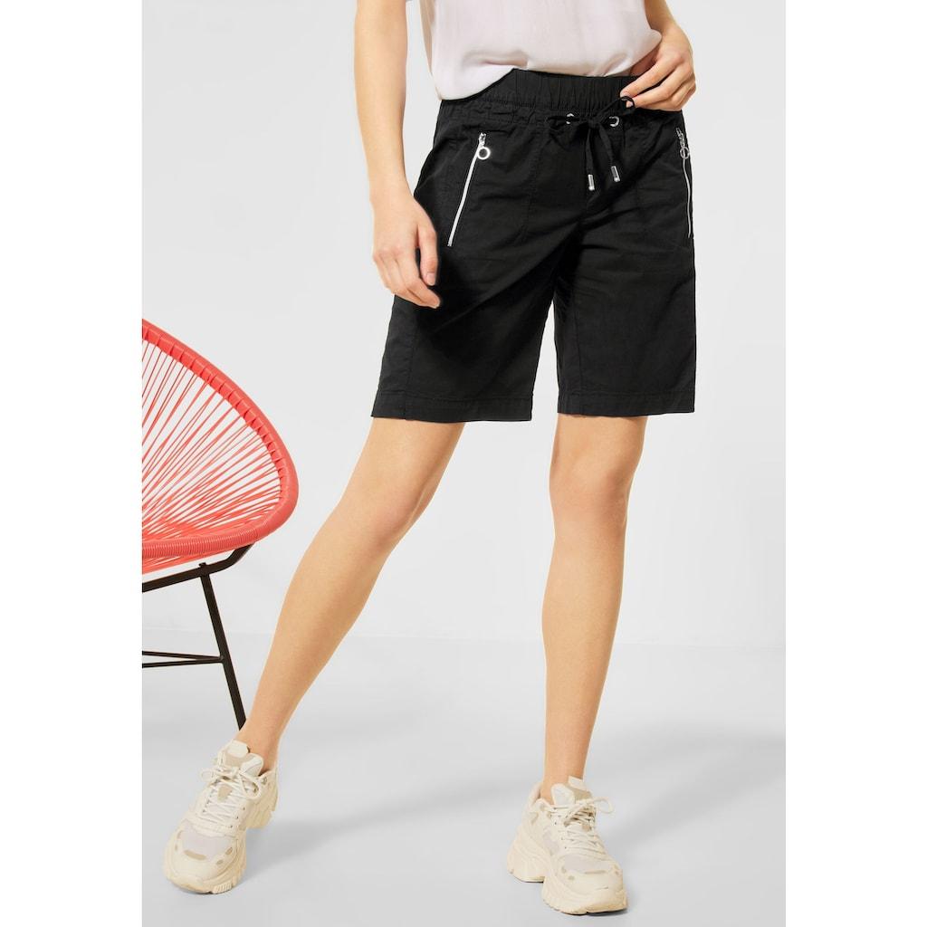 STREET ONE Shorts, aus Baumwolle mit Stretchanteil