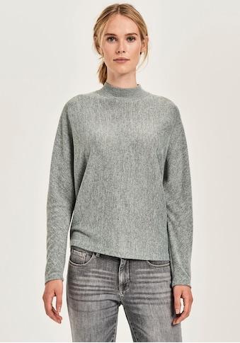 OPUS Langarmshirt »Sevoma«, mit schönem Ripp-Kragen kaufen