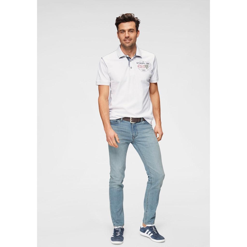 Rhode Island Poloshirt »Piqué Qualität«, mit modischen Kontrastnähten