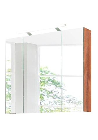 Schildmeyer Spiegelschrank »Isola«, Breite 80 cm, 3-türig, LED-Beleuchtung, Schalter-/Steckdosenbox, Made in Germany kaufen
