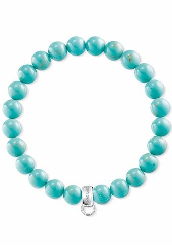 THOMAS SABO Charm-Armband »Türkis, X0213-404-17«, mit imit. Türkisen kaufen