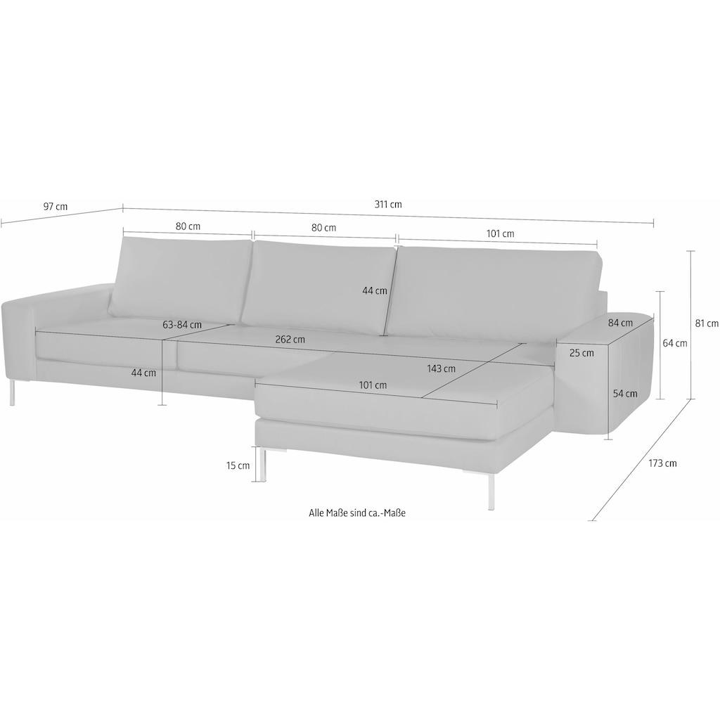 Alte Gerberei Ecksofa »Lexgaard«, inklusive Rückenkissen, Recamiere wahlweise rechts oder links