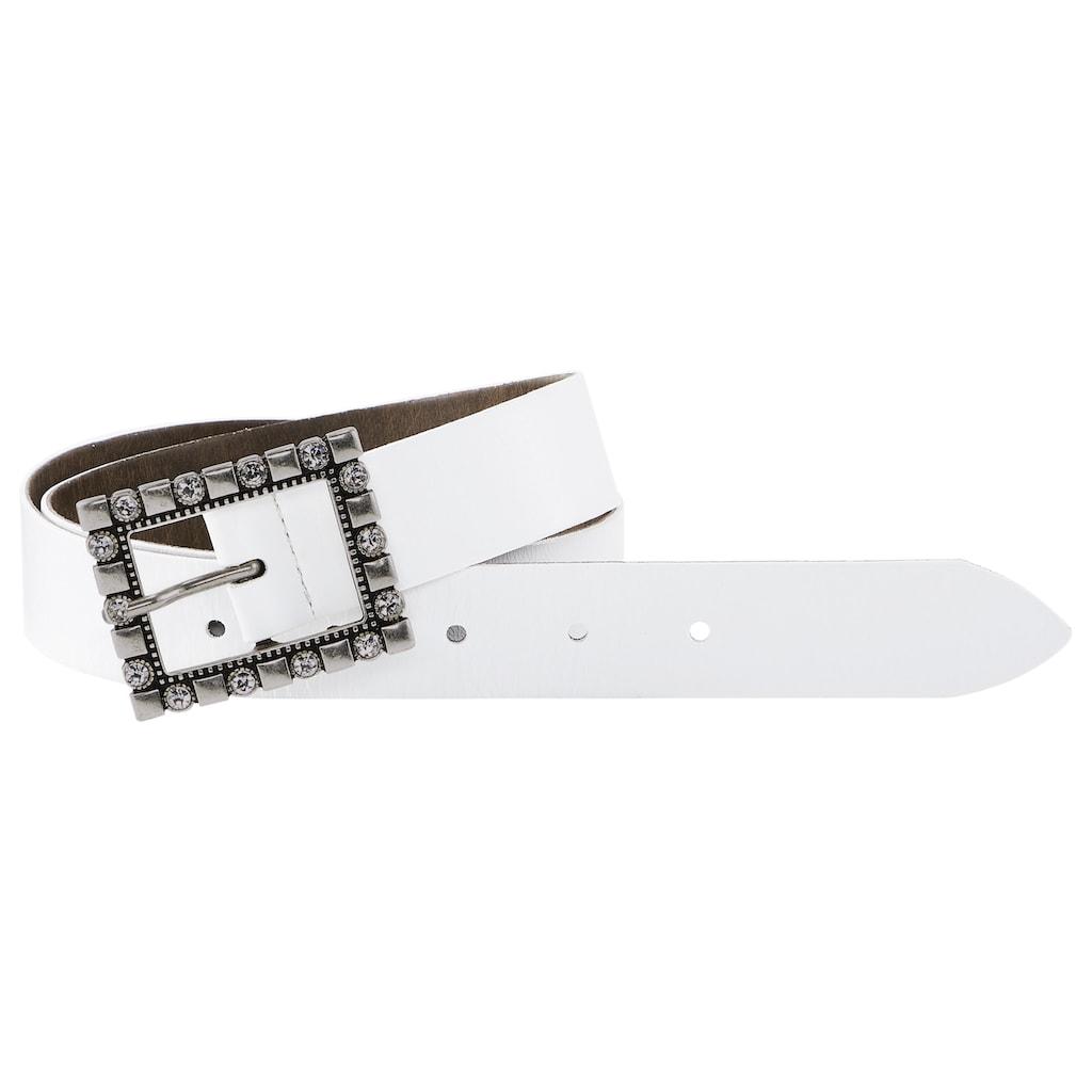 heine Ledergürtel, mit dekorativer Schließe