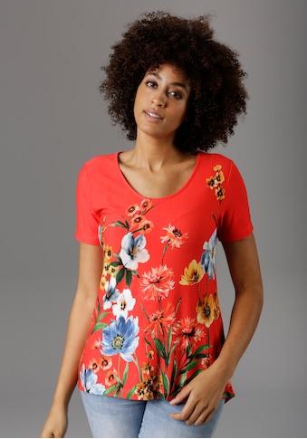 Aniston SELECTED T-Shirt, mit Blumendruck kaufen