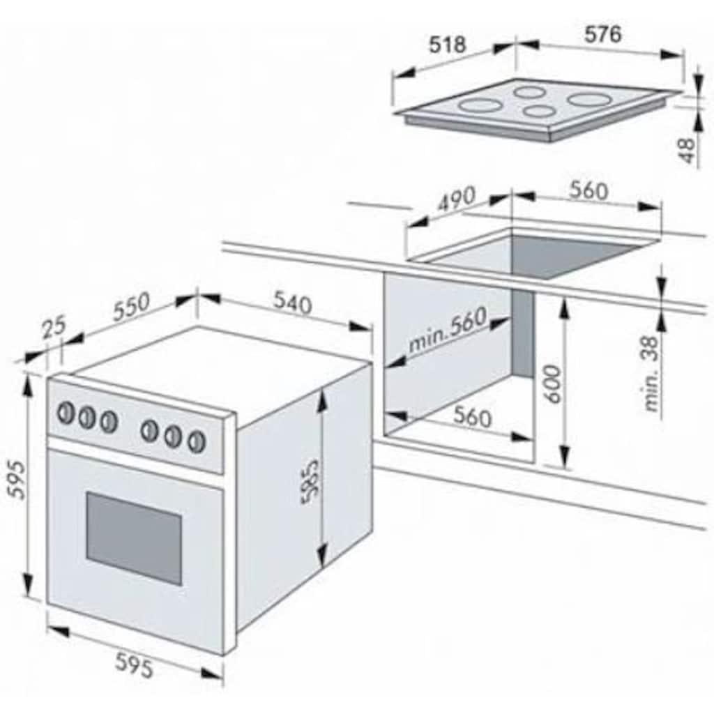 Amica Elektro-Herd-Set »EHC 12616 E«, EHC 12616 E, RapidWarmUp-Funktion