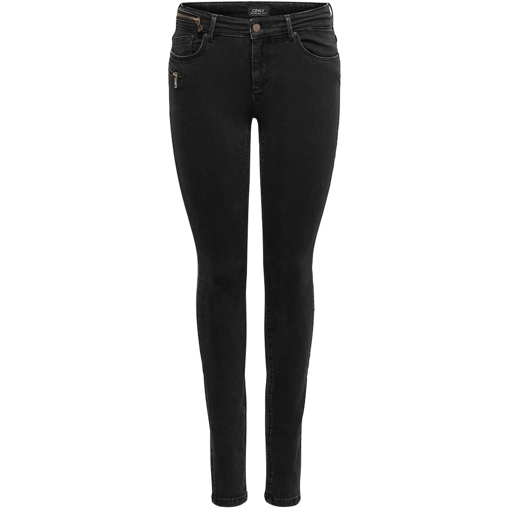 Only Skinny-fit-Jeans »ONLCARMEN LIFE«, mit Zipper Details