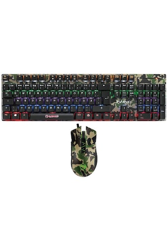 MARVO Gaming Kombi, Tastatur mit Maus »KM435 Mechanical Keyboard Mouse Combo« kaufen