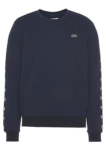 Lacoste Sweatshirt, Streifen mit Markenlogo am Ärmel kaufen
