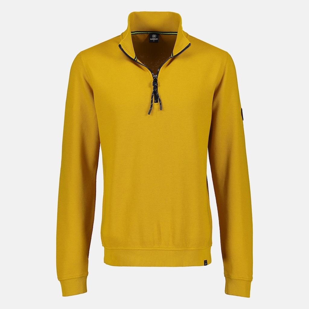 LERROS Sweatshirt »Troyer«, unifarben mit Zipper