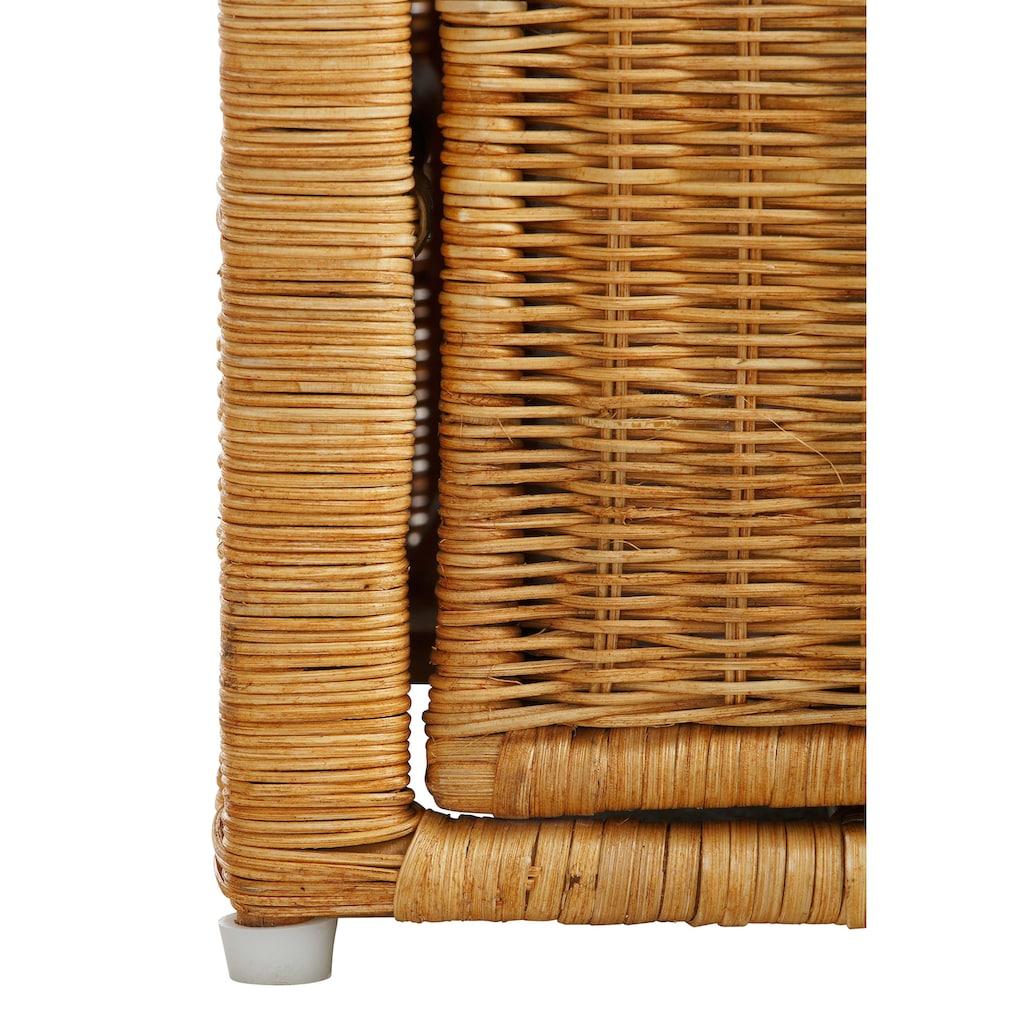 Home affaire Rattanstuhl »Blaxton«, inklusive eines Korbes und eines Sitzkissens, aus Rattangeflecht, Breite 56 cm