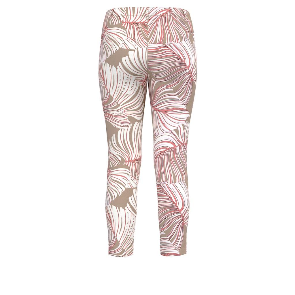 bianca Stretch-Hose »SIENA«, mit modernem Blätterprint in angesagten Farben