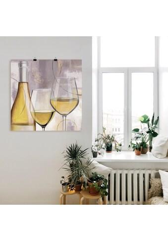 Artland Wandbild »Geschmack Weiß II«, Getränke, (1 St.), in vielen Größen &... kaufen