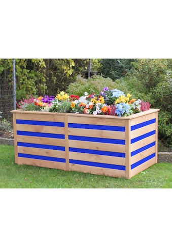Hochbeet »CYO«, BxTxH: 150x75x84 cm, honigbraun/blau kaufen