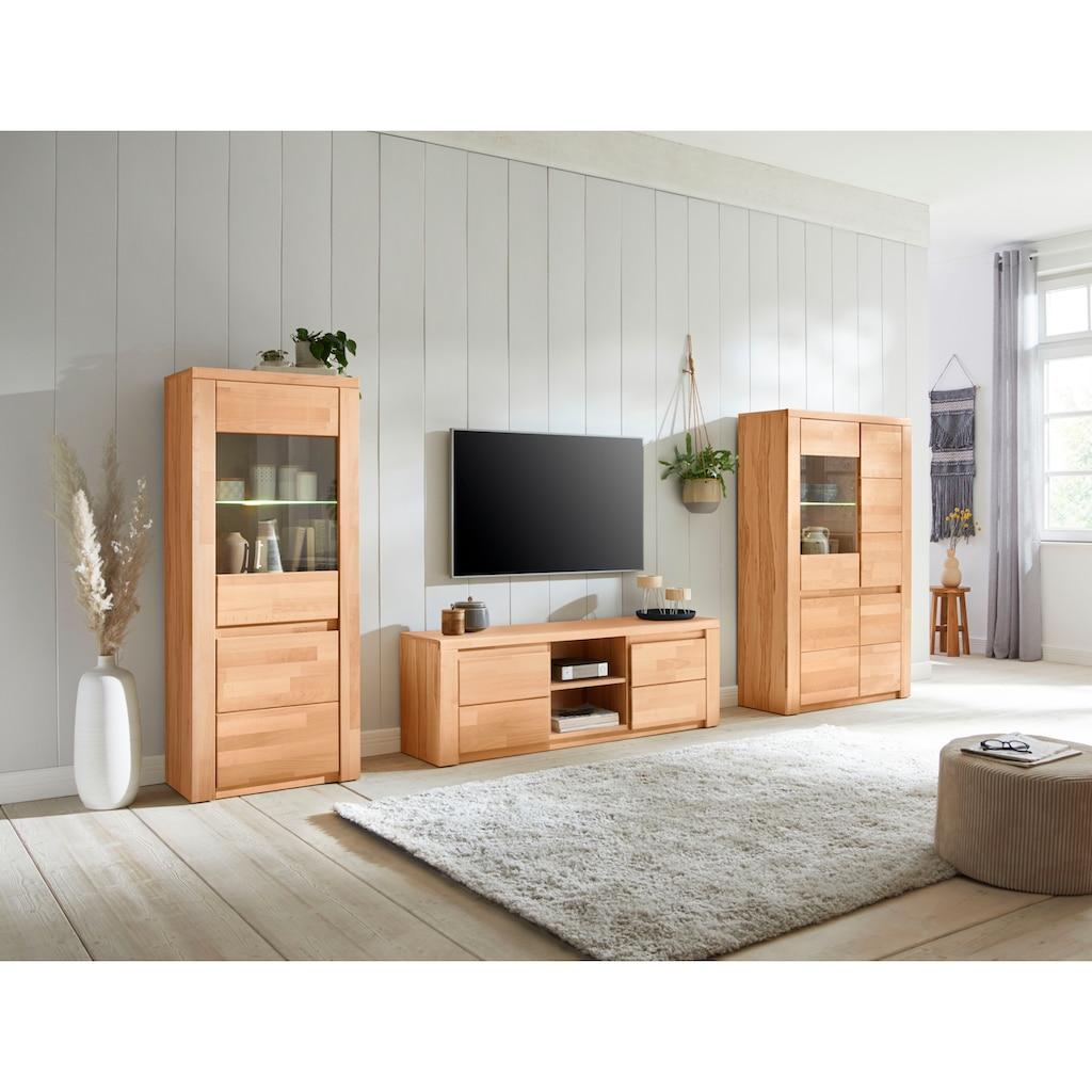 Premium collection by Home affaire Wohnwand »Burani«, (Set, 3 St.), teilmassives Holz