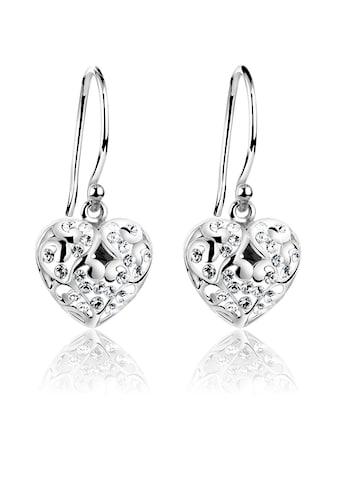 Nenalina Paar Ohrhänger »Herz Ohrhänger Kristalle 925 Silber« kaufen