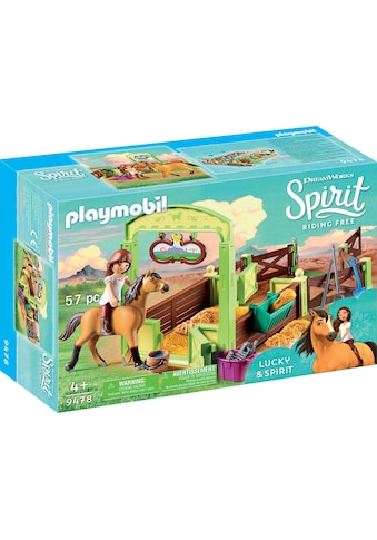 Playmobil® Konstruktions-Spielset »Pferdebox Lucky & Spirit (9478), Spirit Riding Free«, Made in Europe kaufen