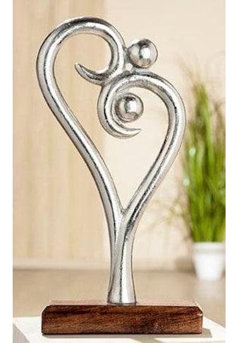 GILDE Dekoobjekt »Skulptur Figura - Innigkeit«, Höhe 30 cm, aus Metall, Sockel aus... kaufen