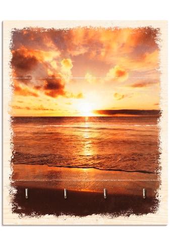 Artland Schlüsselbrett »Schöner Sonnenuntergang Strand«, aus Holz mit 4 Schlüsselhaken... kaufen