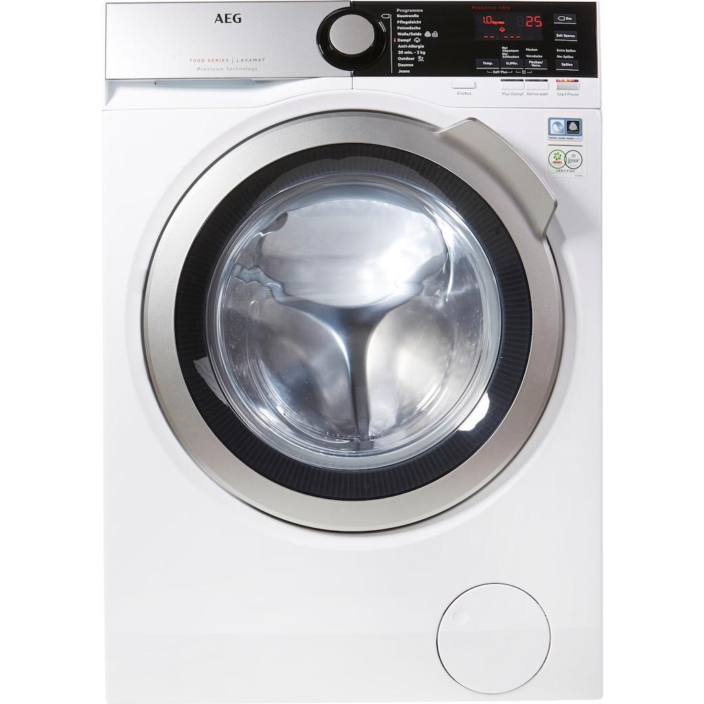 AEG Waschmaschine »L7FE74485«, L7FE74485, 8 kg, 1400 U/min, ProSteam - Auffrischfunktion