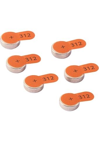 Intenso Knopfzelle »Zink-Luft A312«, (6 St.), Hörgeräte Batterien kaufen