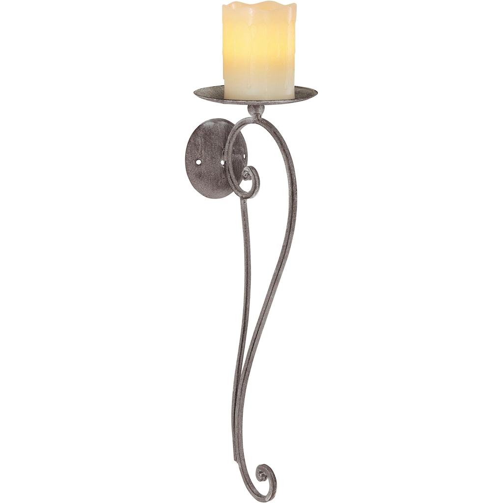 Ambiente Haus Kerzenhalter, Höhe 49 cm, Kerzen-Wandleuchter, Kerzenhalter, Kerzenleuchter hängend, Wanddeko