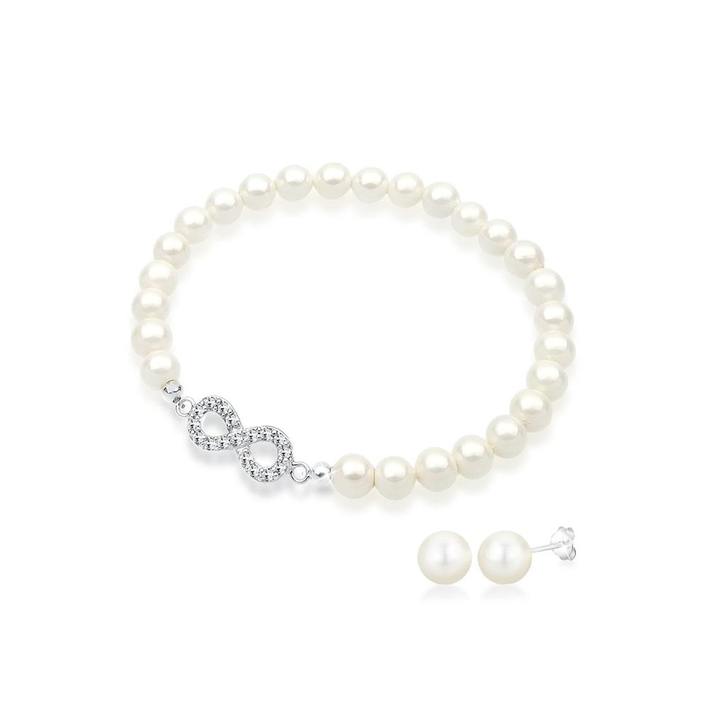 Elli Schmuckset »Infinity Perle Basic Kristalle«
