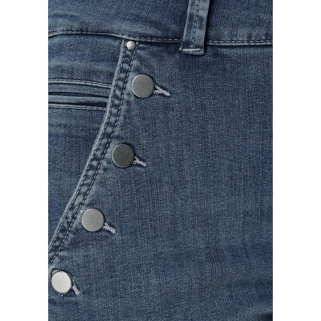 MAC Ankle-Jeans »Dream Slim Button«, Dekorative Knöpfe in der Front geben den neuen Look