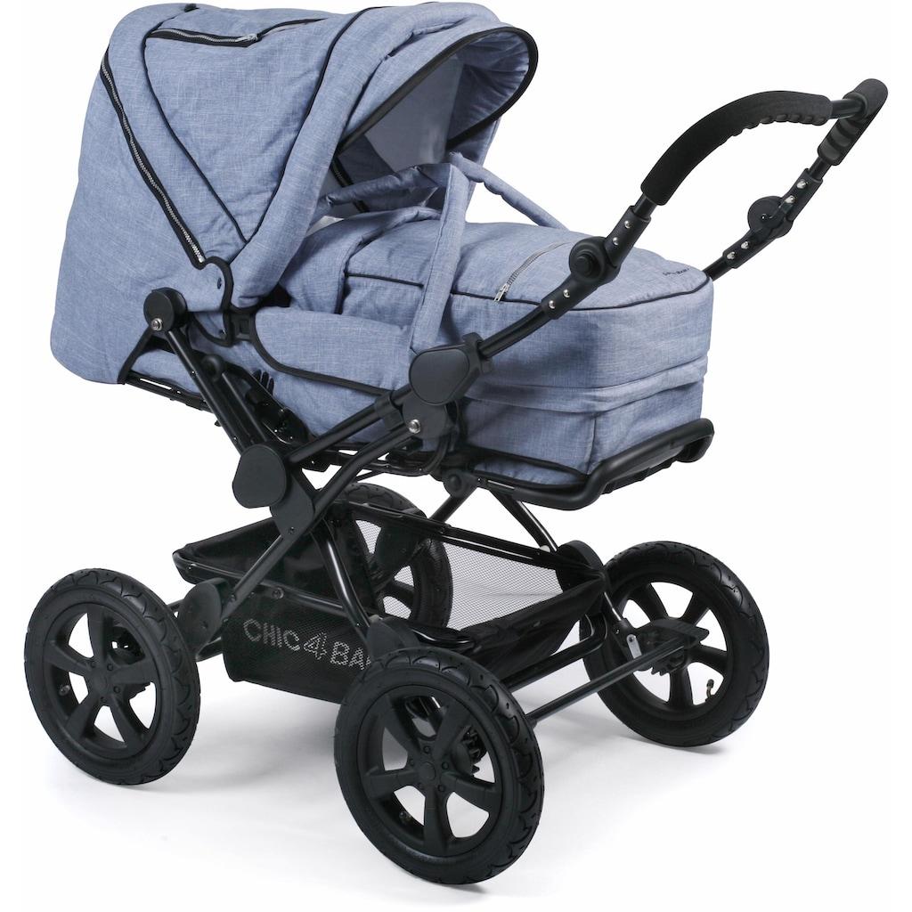 CHIC4BABY Kombi-Kinderwagen »Viva, hellblau«, 15 kg, mit Lufträdern